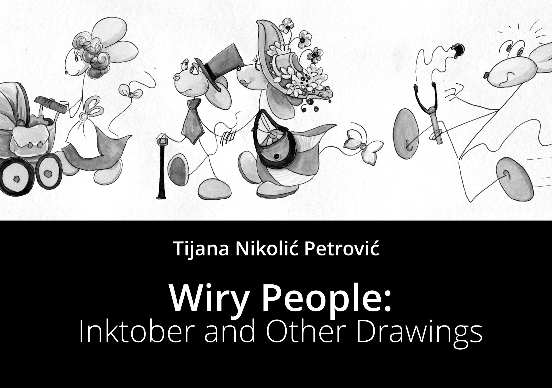 Wiry People: Inktober and Other Drawings - Front Cover