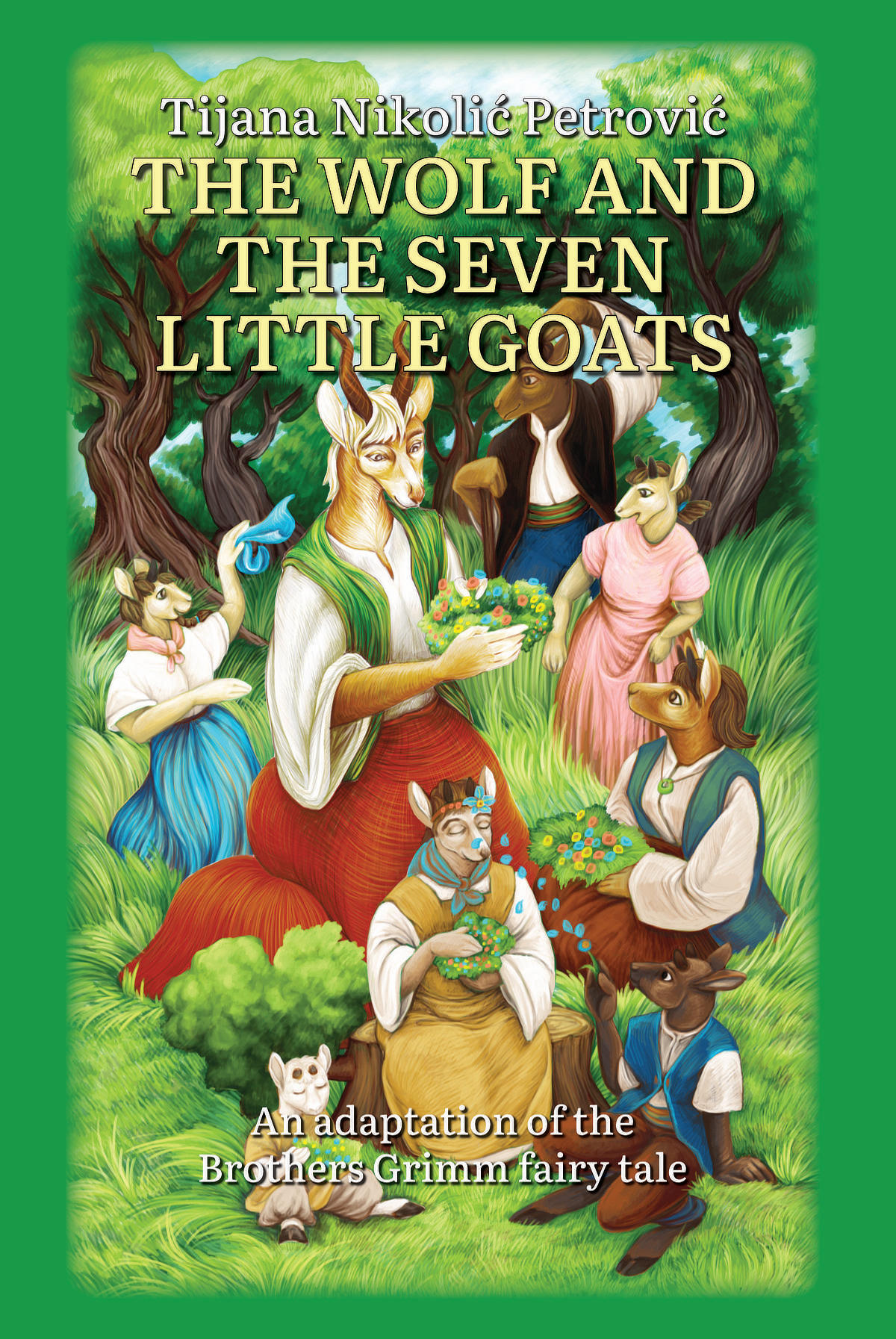 The Wolf And Seven Little Goats - Front Cover